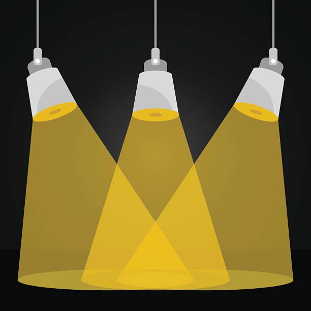 ベクトルスポットライトでひとときをお届けします。シーンの照明、舞台照明ベクトルイラストレーション - ステージのイラスト点のイラスト素材/クリップアート素材/マンガ素材/アイコン素材
