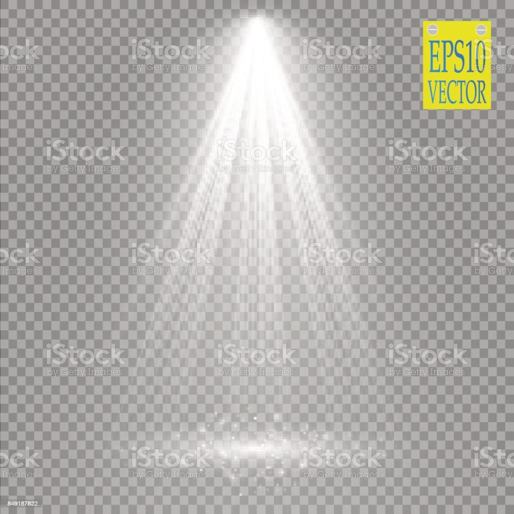 Vector Spotlights. Scene. Light Effects vector art illustration