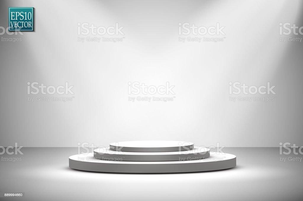 Vector Spotlights. Scene. Light Effects vector art illustration