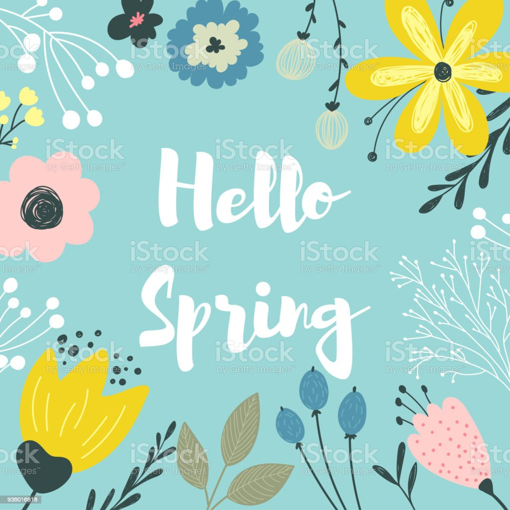 Vector Spring Border Stock Illustration Download Image Now Istock This template is a transparent png format, so you can easily layer it in your projects and lesson materials. vector spring border stock illustration download image now istock