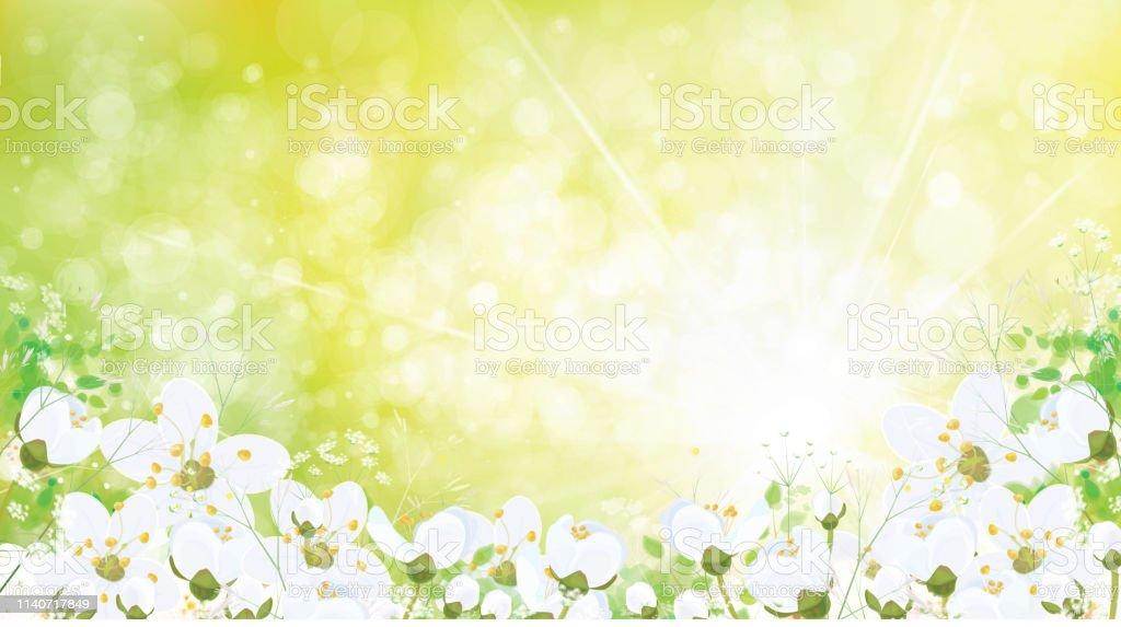 Vector Spring Floral Background Stock Illustration