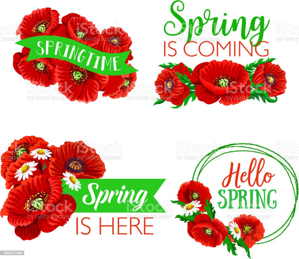 Vector spring time greeting quotes flowers design stock vector art vector spring time greeting quotes flowers design royalty free stock vector art mightylinksfo