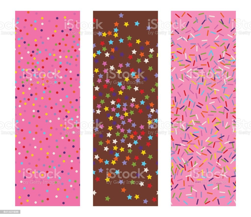 vector sprinkles stars, dots and lines vector art illustration