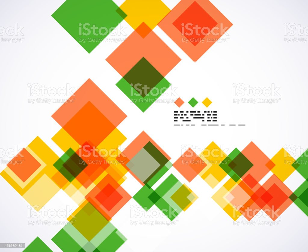 Vector square background royalty-free stock vector art