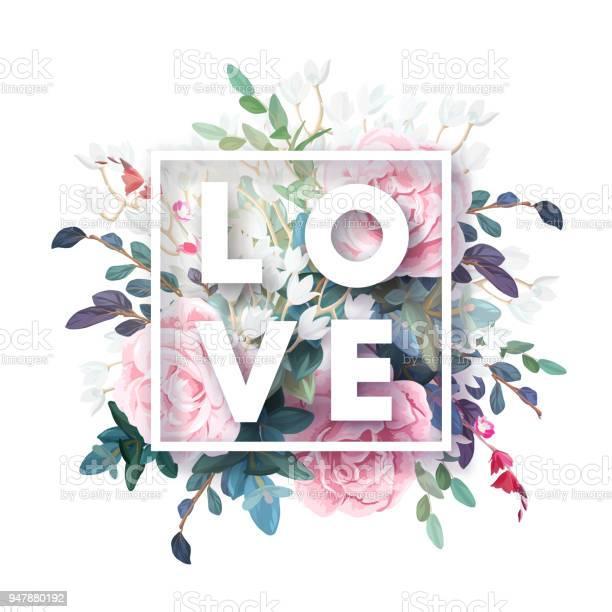 Vector square botanical frame with pale pink roses green leaves and vector id947880192?b=1&k=6&m=947880192&s=612x612&h=ol4iemadistrunwkmvwbkjmuw1gpyzmf387yrjmixzi=