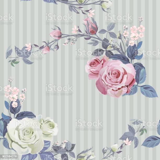Vector square floral seamless pattern branch white pink rose bouquet vector id902584276?b=1&k=6&m=902584276&s=612x612&h=fhbjnxekygpyzllqyjwdgxw9if3h3yzcn0per0ljaz0=