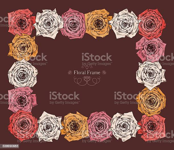 Vector square frame with beautiful roses vector id538690683?b=1&k=6&m=538690683&s=612x612&h=3wxaaaymck0o qwlcoef kpqzo6yp7pcrbd7bvag7eo=