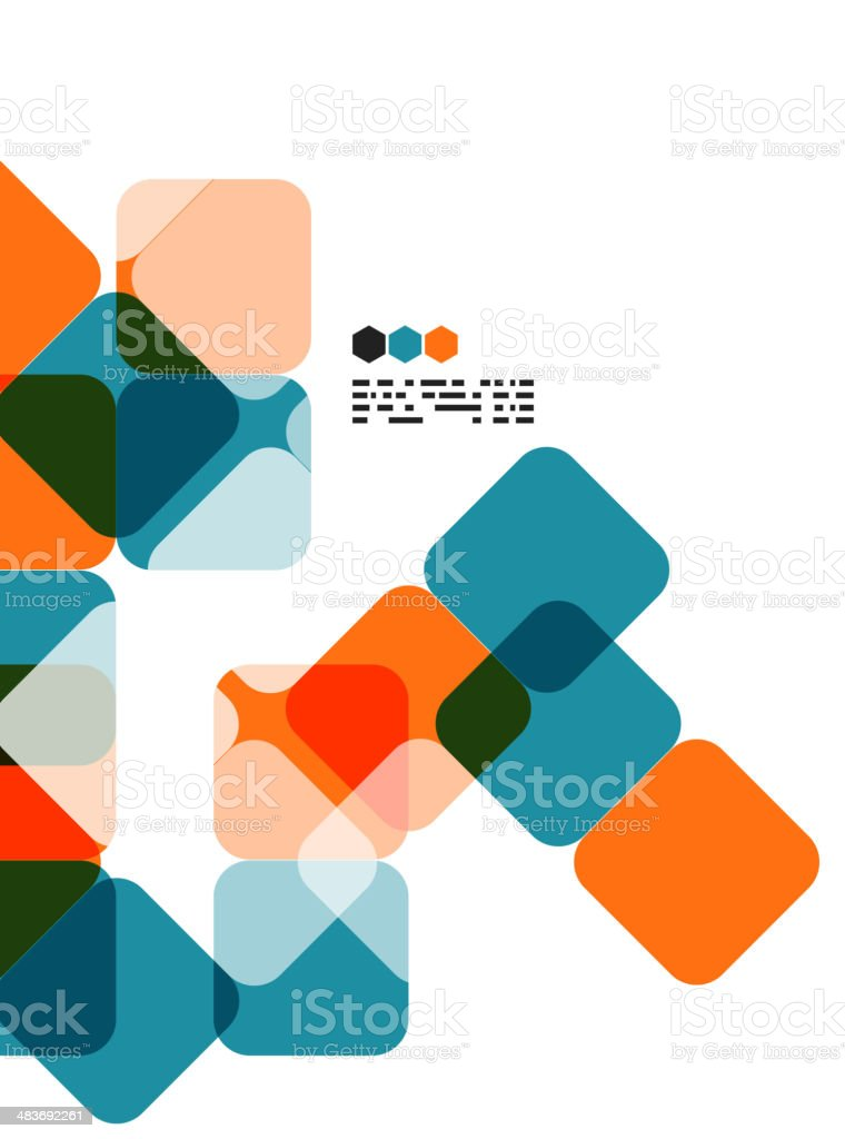 Vector square mosaic background vector art illustration
