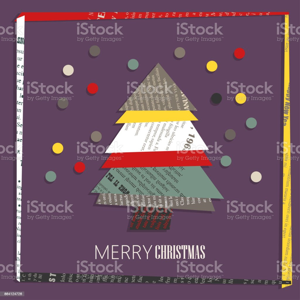 Vector square New Year greeting Card. royalty-free vector square new year greeting card stock vector art & more images of abstract