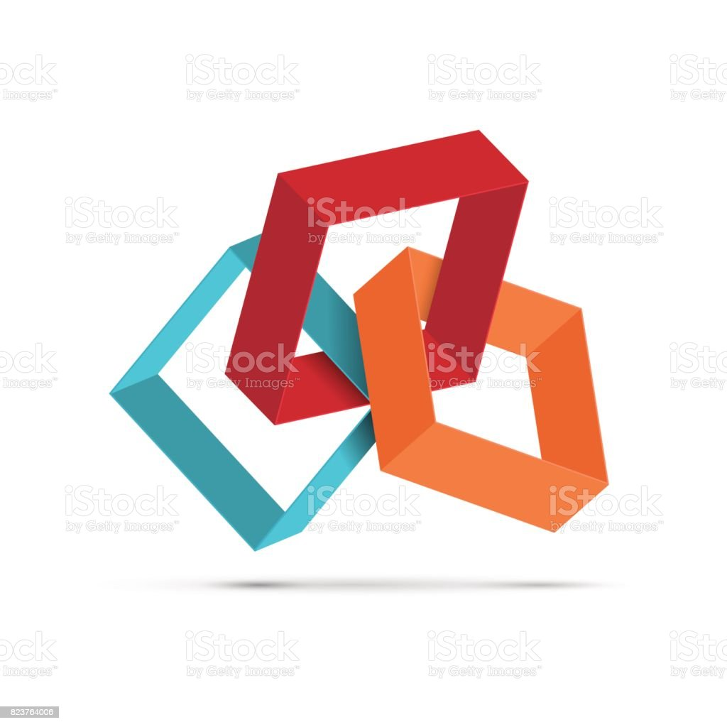 Vektör kare işareti vektör sanat illüstrasyonu