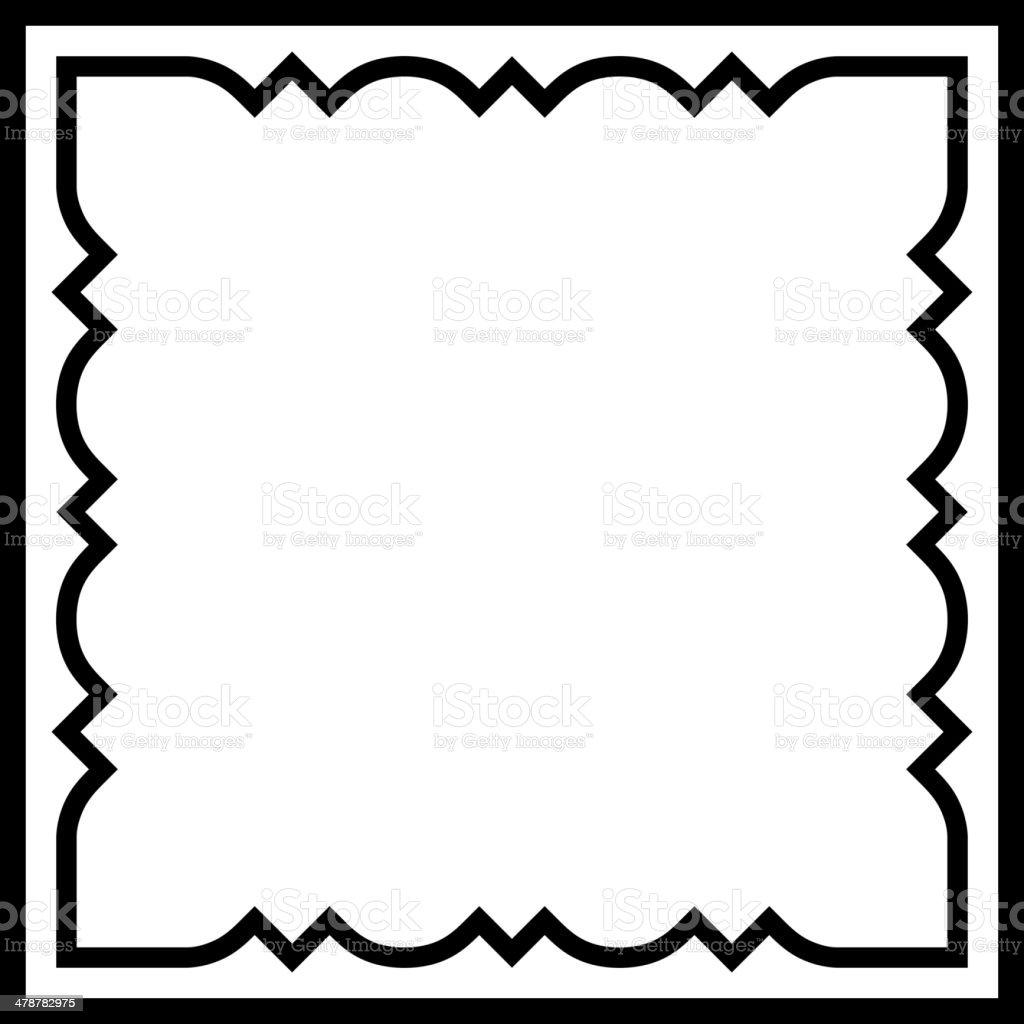 Vector Square Tile Border Frame Stock Illustration Download