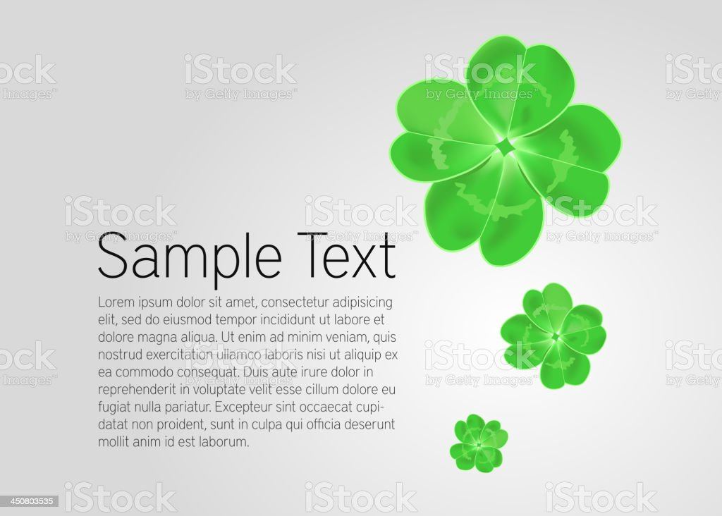 Vector St. Patrick`s Day card royalty-free stock vector art
