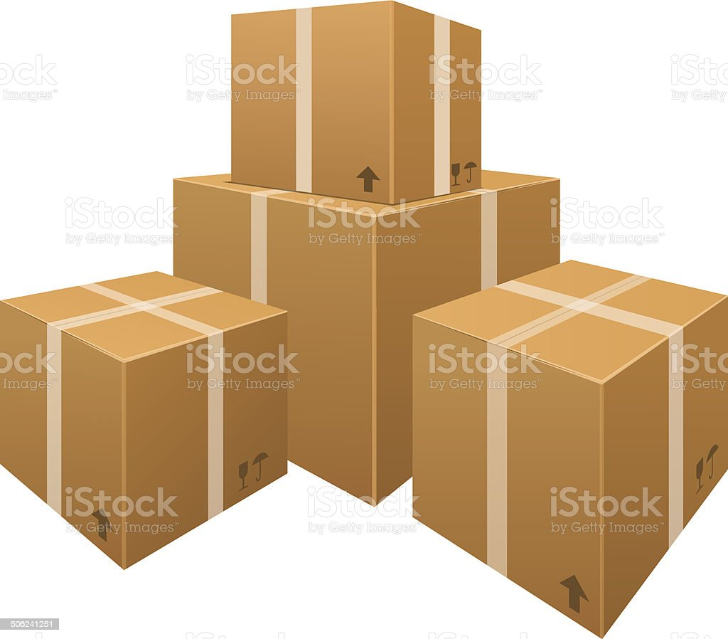 Royalty Free Stacked Boxes Clip Art  Vector Images