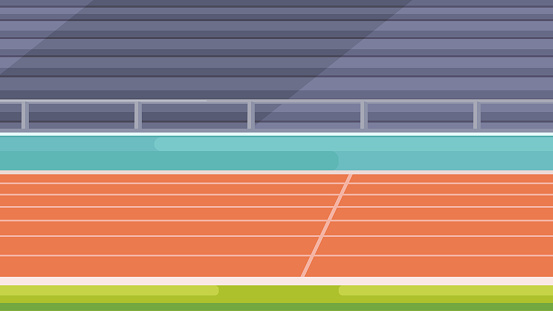 Vector stadium location. Tribunes and running track.