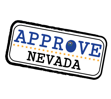 Vector Stamp For Approve Logo With Nevada Flag In The Shape Of O And Text Nevada Stock Illustration Download Image Now Istock