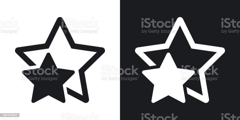 Vector star favorite or best choice icon. Two-tone version vector star favorite or best choice icon twotone version – cliparts vectoriels et plus d'images de adulation libre de droits