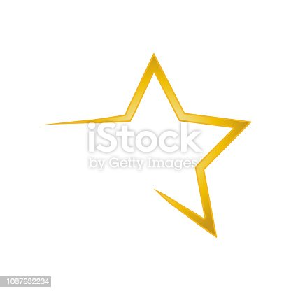 Vector star graphics icon