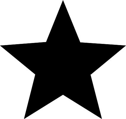 Vector star icon . A flat black star.