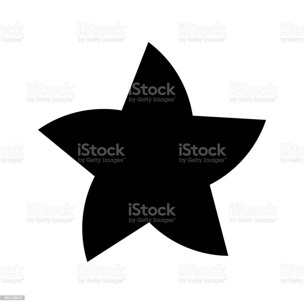Vektor stjärnigt icon - Royaltyfri Brandman vektorgrafik