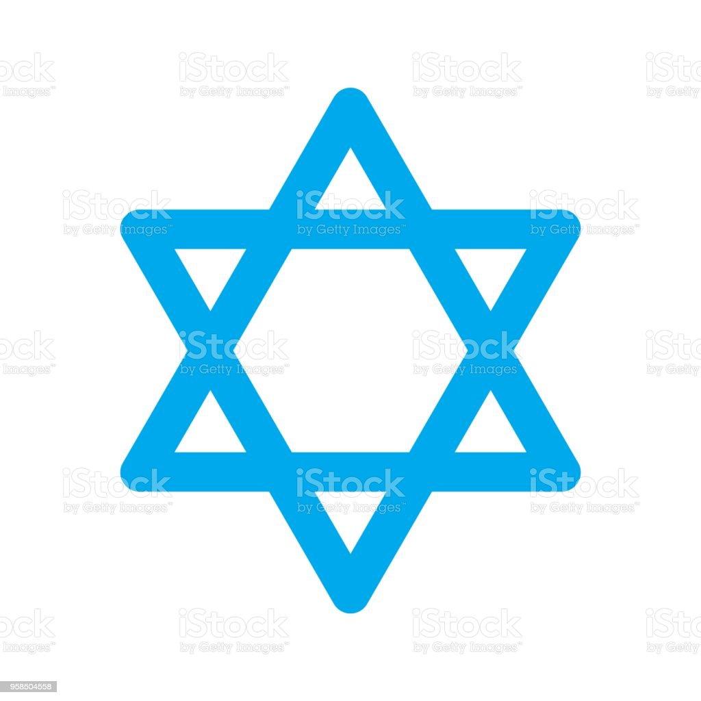 Vector Star Of David Symbol Of Judaism Stock Vector Art More