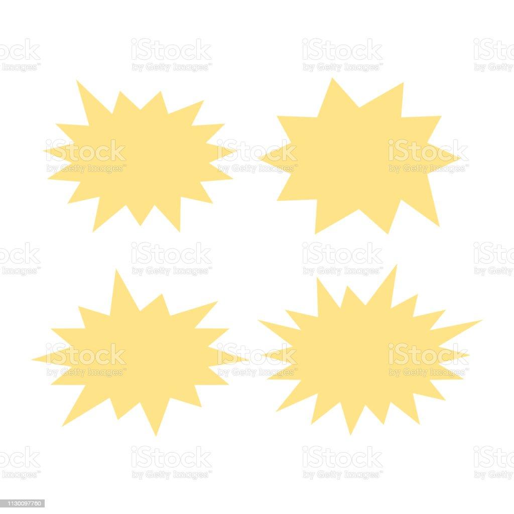 Vector Starburst set. Starburst explosion comic shapes. Speech boom bubble векторная иллюстрация