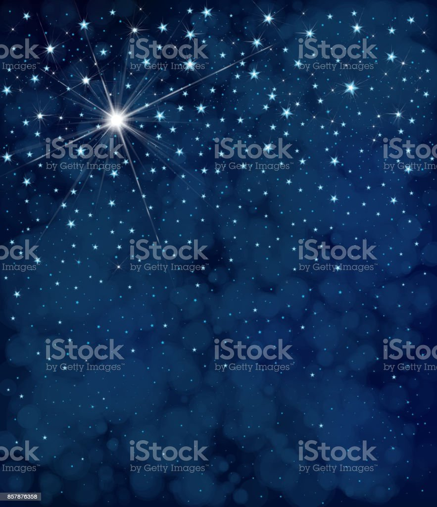 Vector Starry Night Sky Background Stock Illustration - Download