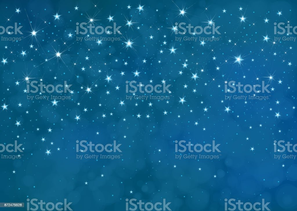 Vector starry  night sky  background. vector art illustration