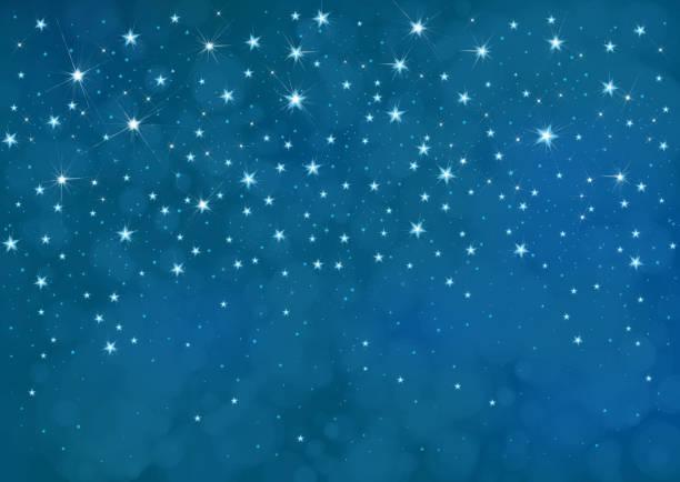 ilustrações de stock, clip art, desenhos animados e ícones de vector starry  night sky  background. - céu a noite
