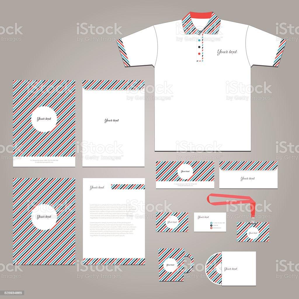 Vector Stationery Corporate Identity Branding Template Stock Vector
