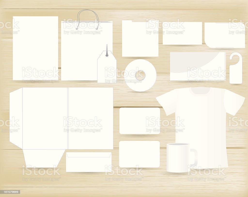 Vector stationery design set royalty-free stock vector art