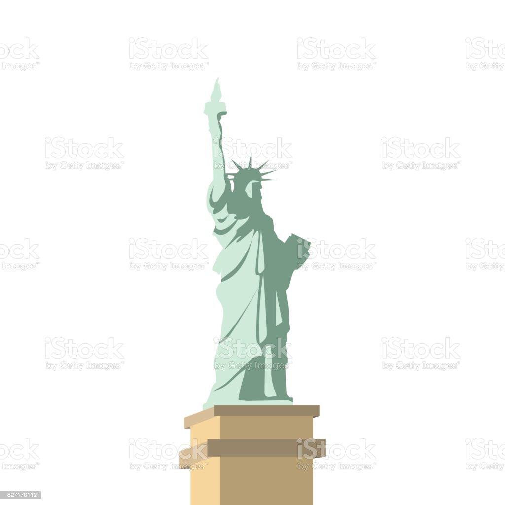 Vector statue of Liberty design, illustrations