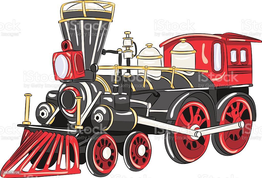 Ilustración de Vector Locomotora De Vapor y más banco de imágenes de ...