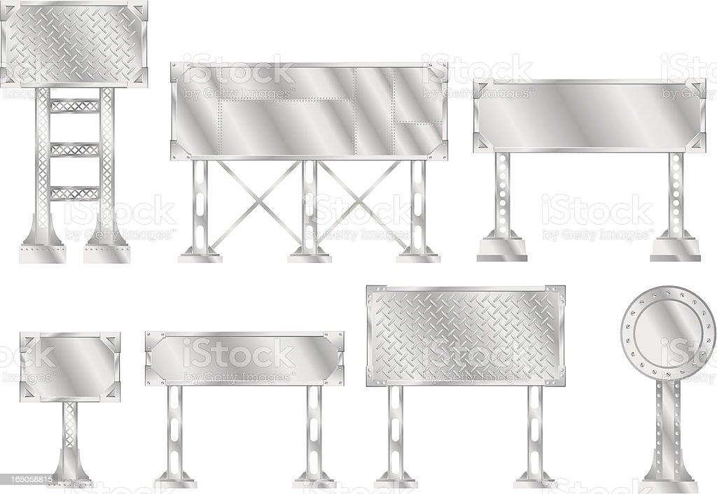 Vector Steel Signs vector art illustration