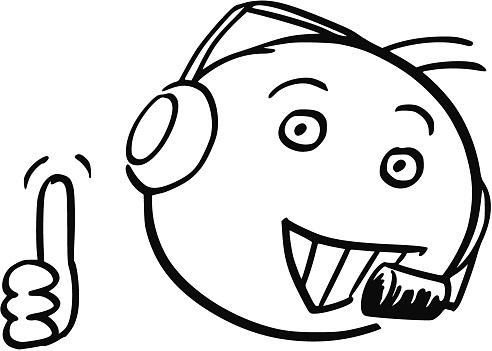 5fe64336bd17e0 Vector Stick Man Cartoon Van Mannelijke Klantenservice Ondersteuning  Callcenter Duim Omhoog Stockvectorkunst en meer beelden van  Antropomorfische smiley - ...