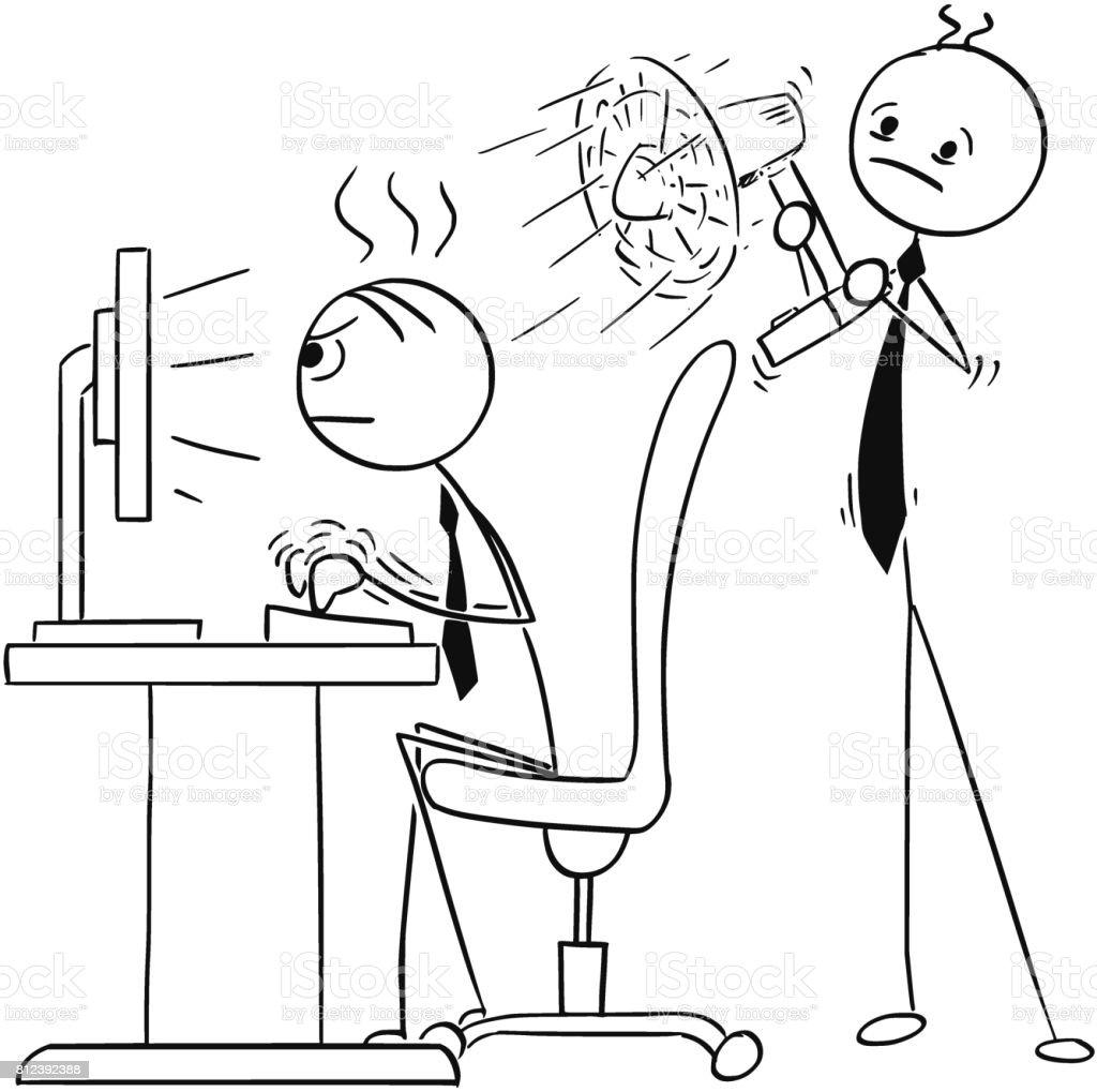 Stickman Illustration Of Kids Helping Their Teacher Perform ...