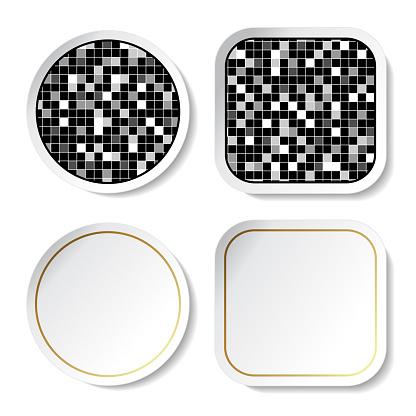 벡터 스티커 버튼정연 한 디자인 0명에 대한 스톡 벡터 아트 및 기타 이미지