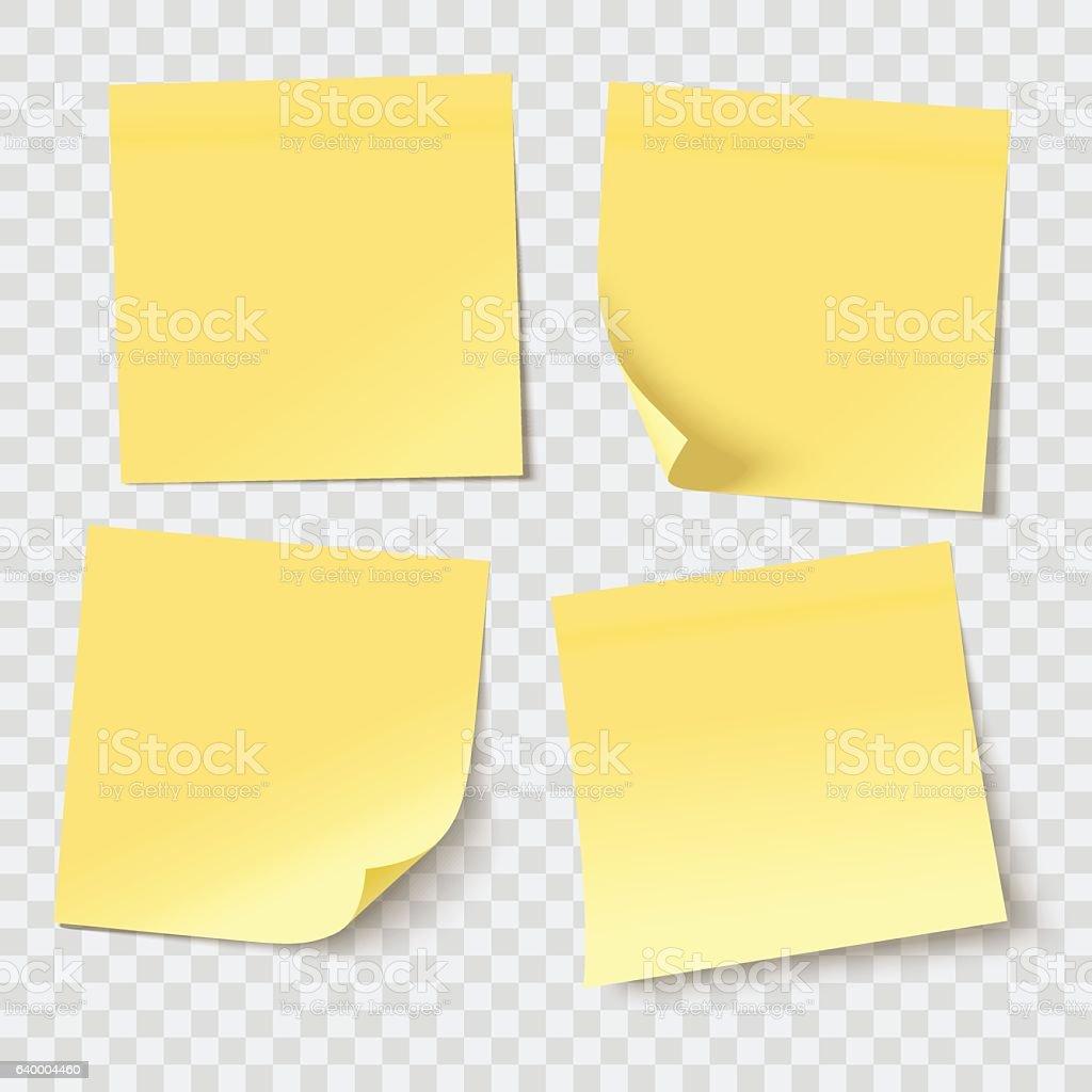vector sticky notes