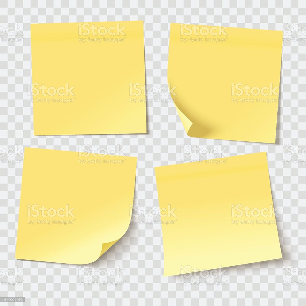 vector sticky notes vector art illustration