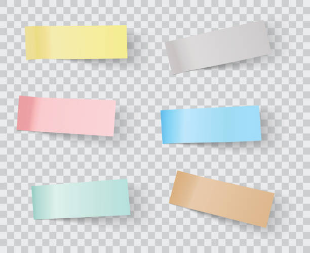 vector sticky notes - post it notes stock illustrations