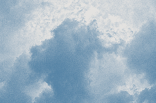 Vector stipple illustration of storm clouds