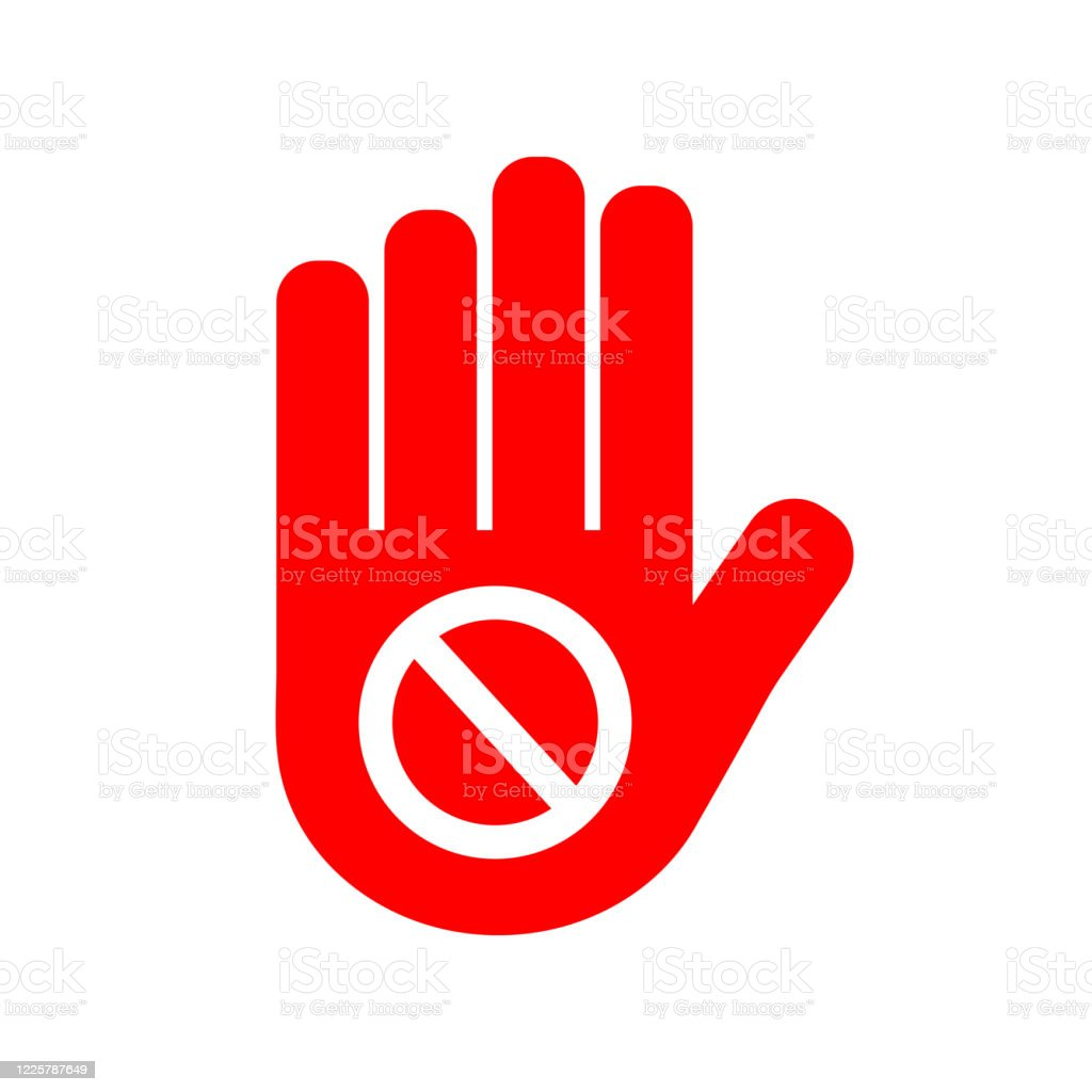 Vector Stop Sign Icon No Sign Red Warning Isolated Not Allowed Icon Flat Illustration Of Not Allowed Vector Icon For Web Stock Illustration Download Image Now Istock