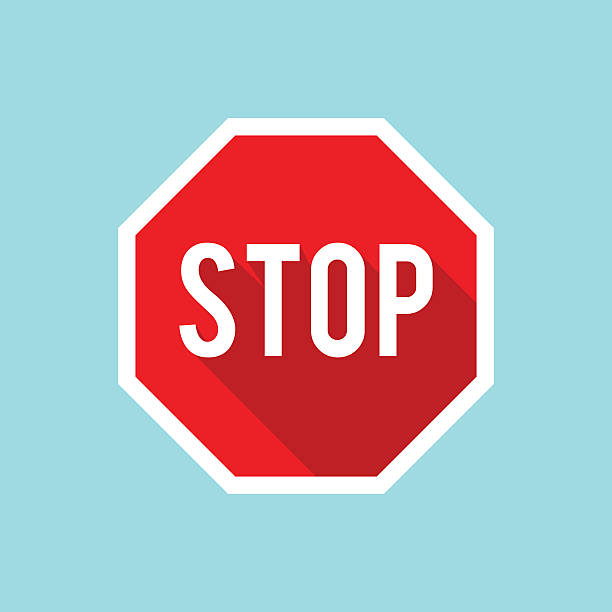 Vector Stop Sign Icon Vector Stop Sign Icon stop stock illustrations