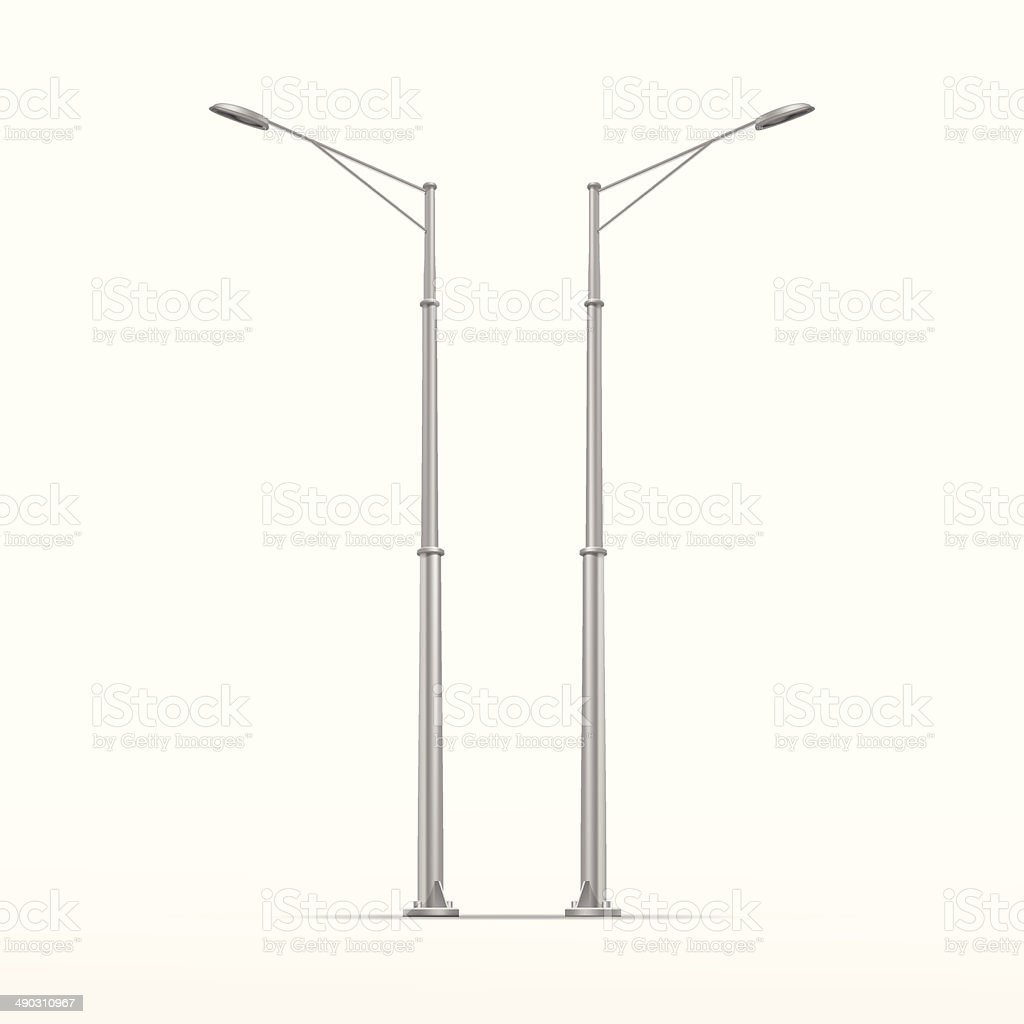 Vector Street Lamp Isolated on White Background vector art illustration
