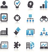 Vector style business symbols