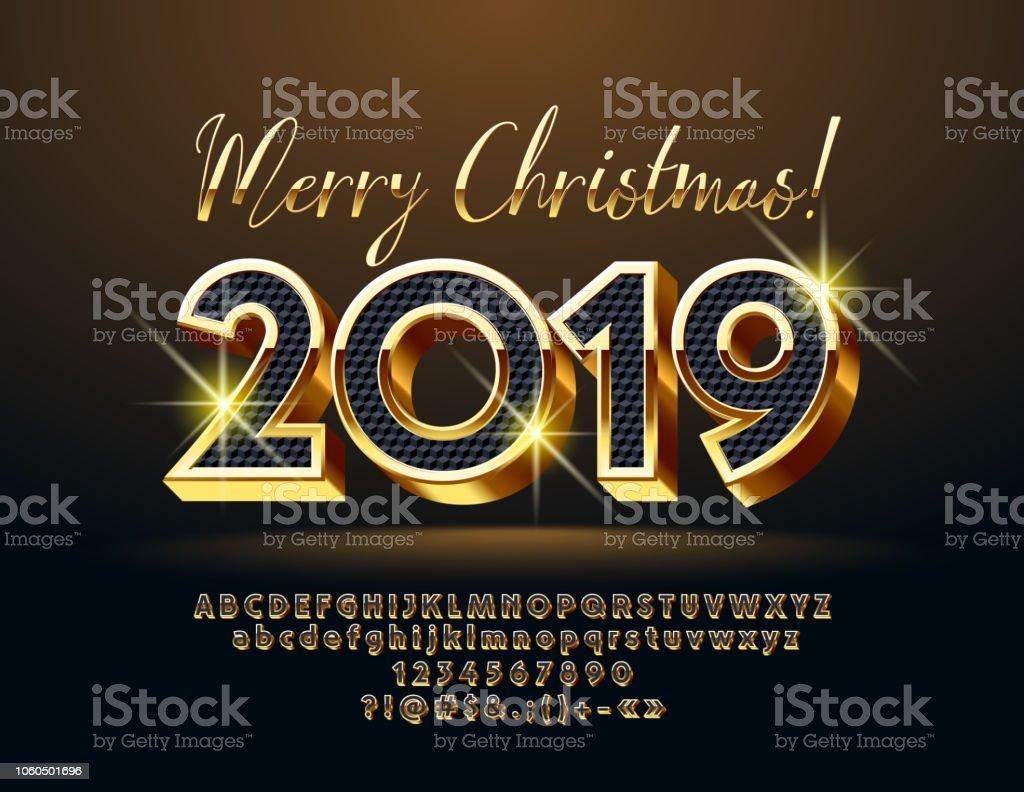 Imagenes Felicitacion Navidad 2019.Ilustracion De Elegante Tarjeta De Felicitacion Feliz
