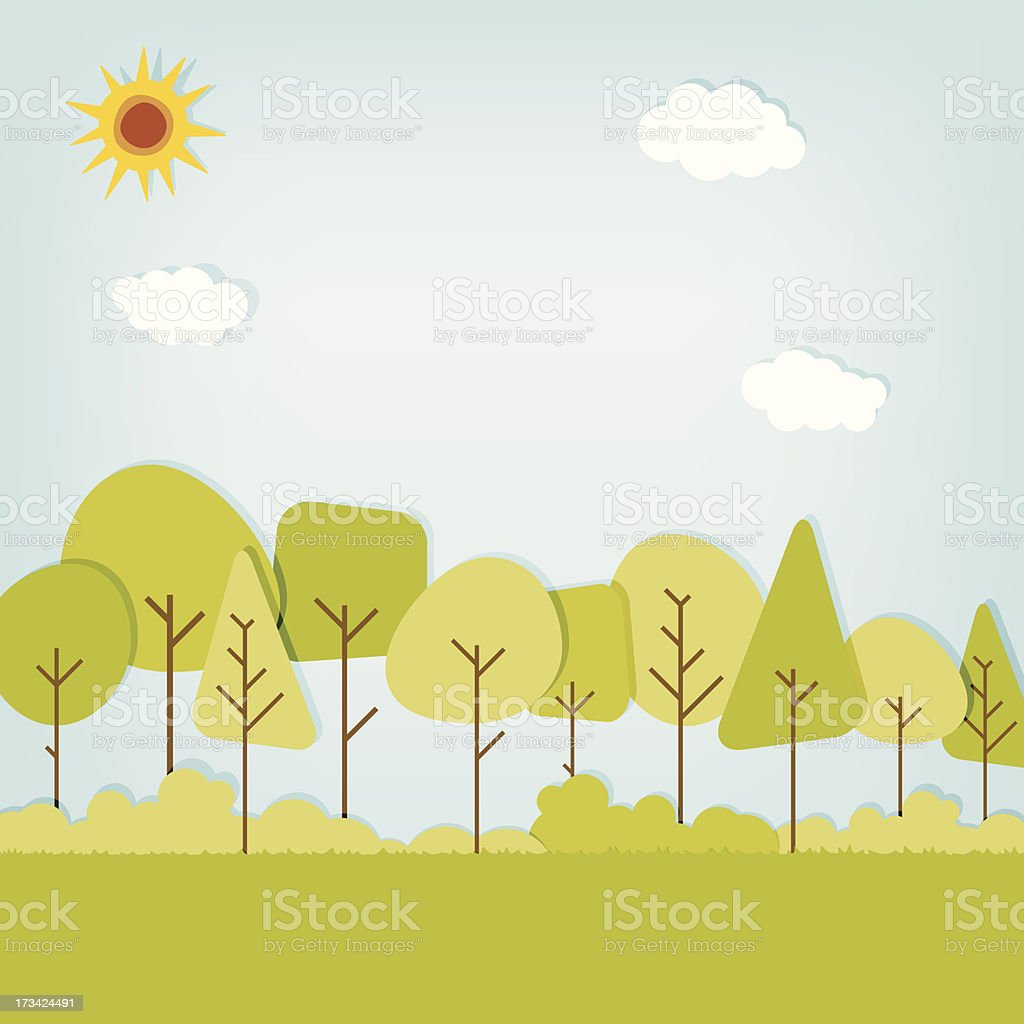 vector stylized forest background royalty-free vector stylized forest background stock vector art & more images of advertisement
