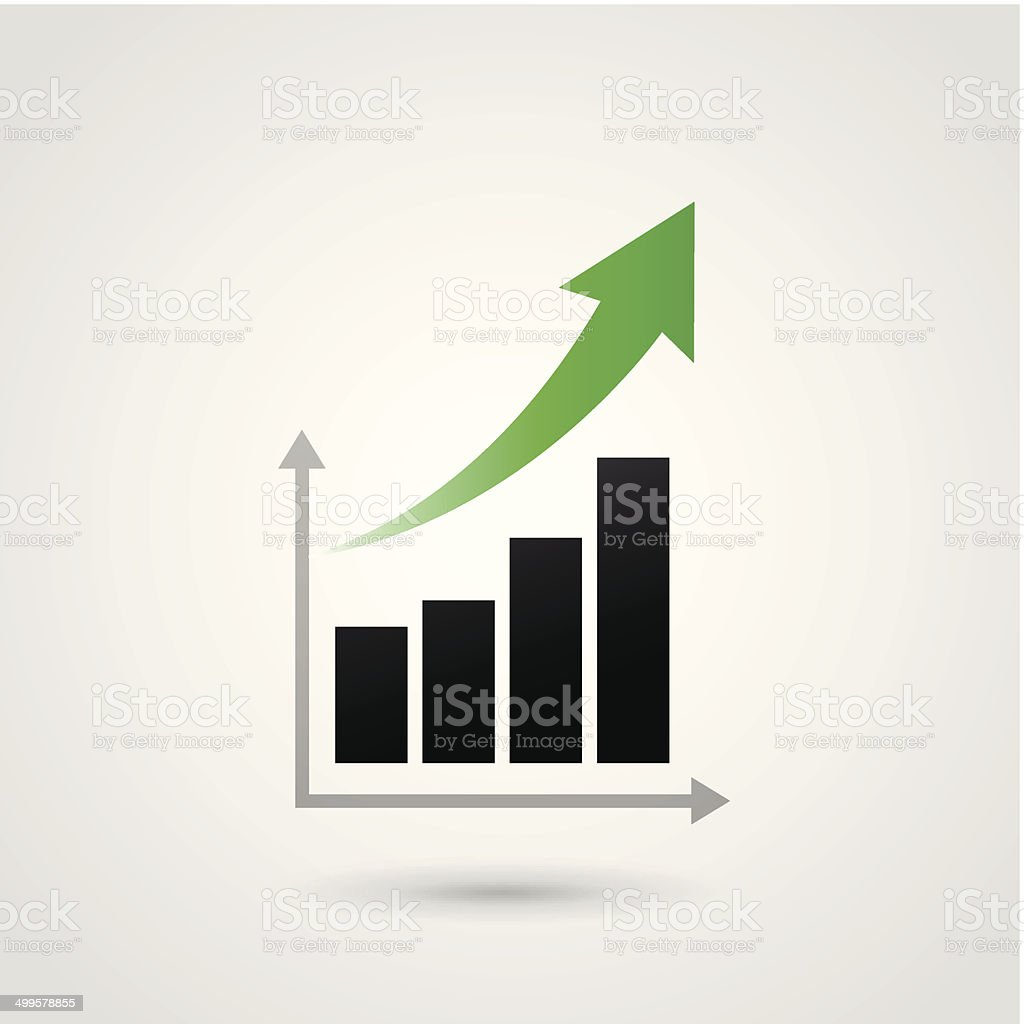 Vektor Erfolg Diagramm – Vektorgrafik