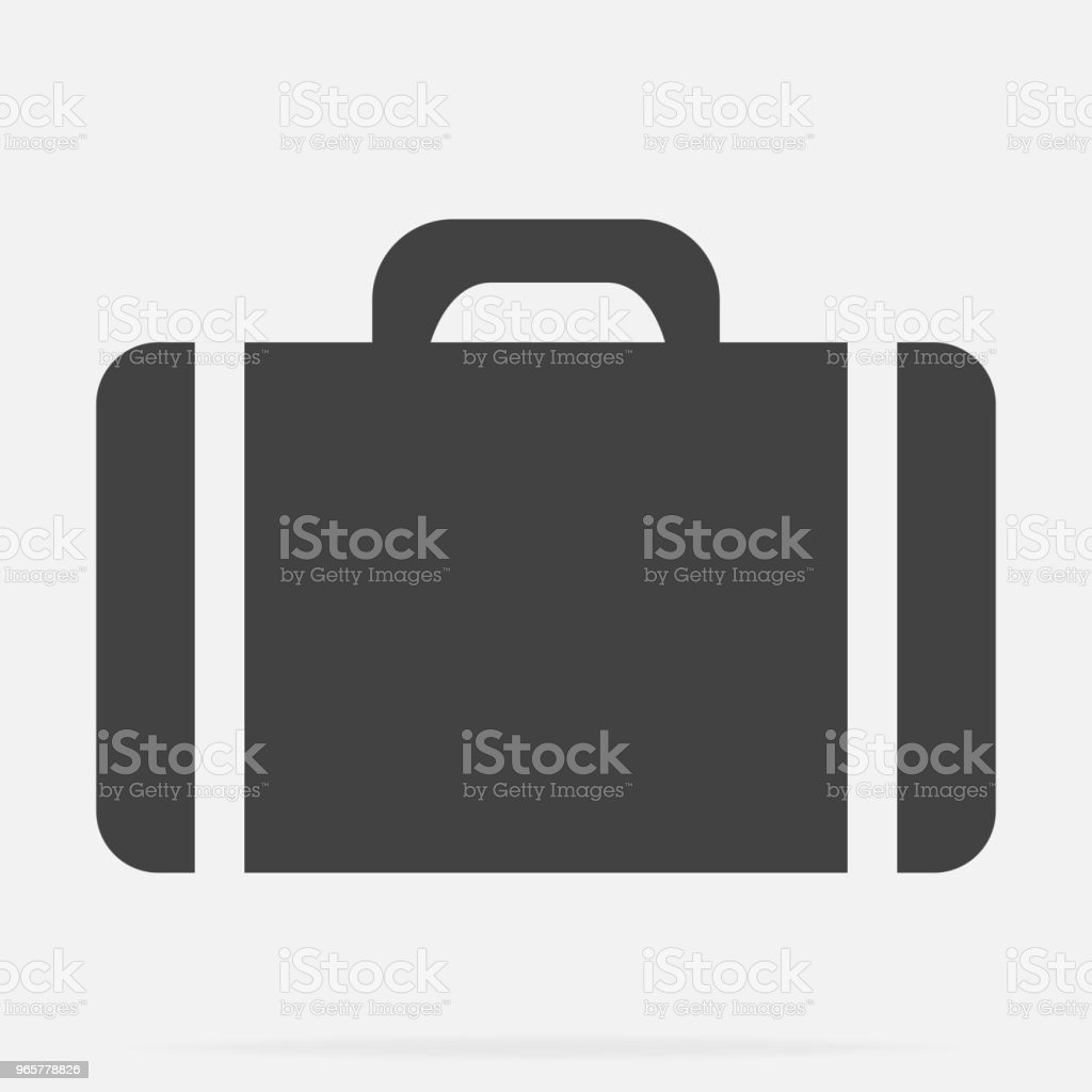 Vector suitcase icon on gray background - Royalty-free Animal stock vector