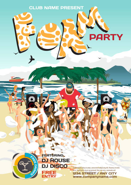 Best Crowded Beach Illustrations, Royalty-Free Vector ...