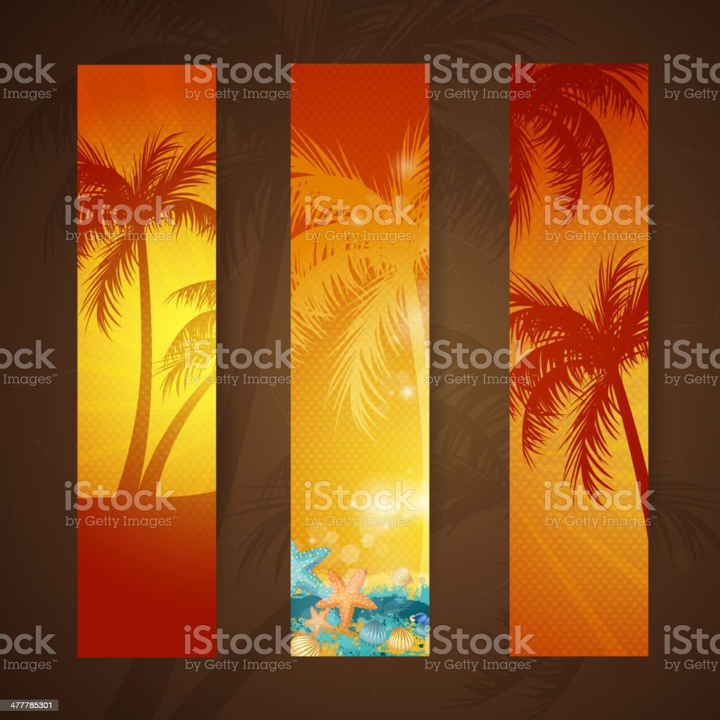 Vector Summer Holiday Banners royalty-free stock vector art